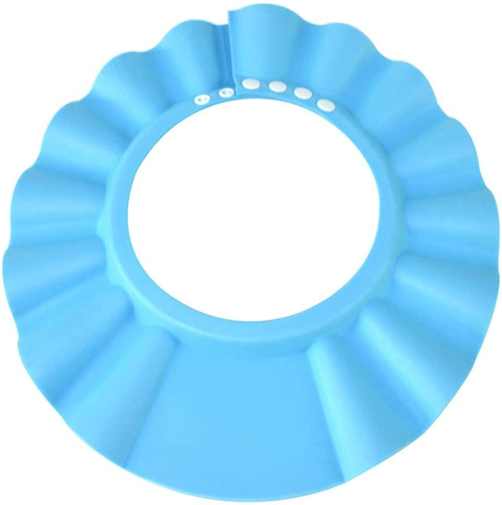 YIXINHUI Baby Shower Cap, Children, Toddler Shower, Swimming, Bathing, and toiletries Waterproof Blue