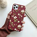 OWIME Art Floral Daisy Phone Case para iPhone 11 Pro MAX Fashion Daisy Flower Case Soft TPU Funda Trasera-para iPhone 11Pro MAX_T8