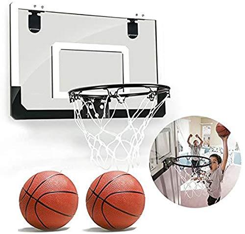 Aegilmctoys Mini Basketballkorb Fürs Zimmer Mit Ball, PVC Rueckwand, Kinder Basketball Korb Set Spielzeug Saugen Wandhalterung Netz Und Luftpumpe Indoor Sportspielzeug,45.5 * 29.5 cm