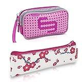 Pack bolsa isotérmica Dia's en color rosa y estuche Insulin's con flores rosas, Elite Bags, Lote ahorro, Kit de 2 tamaños: 1 bolsa grande + 1 estuche pequeño