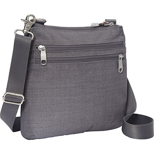 eBags Villa Crossbody Bag with RFID Security - Small Lightweight Bag for Travel and Everyday - (Brushed Graphite)