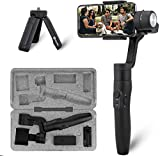 FeiyuTech Vimble 2S 3-Axis Handheld Camera Stabilizer Gimbal for Smart Mobile Phone Camera With Integrated 18cm Extendable Selfie Stick and Mini Tripod Accessories for iPhone Android, Samsung Mount