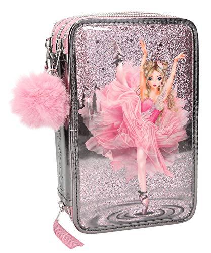 Depesche 10149 Federtasche 3 Fach Fantasy Model Ballett, grau, bunt