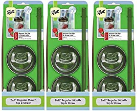 product image for Ball Sip & Straw Lids, Fits Regular Mouth Mason Jars (3)