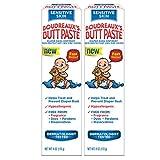 Boudreaux's Butt Paste Sensitive Skin Diaper Rash Ointment, 4 oz Tube, 2 Pack