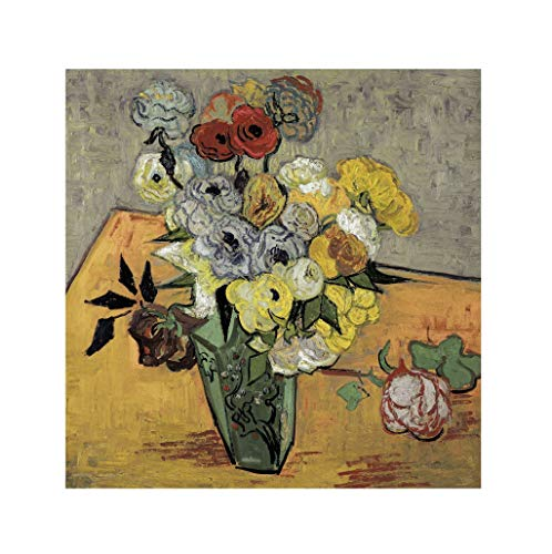 Vincent Van Gogh - Still-life with Japanese vase 1890 Print 60x60cm