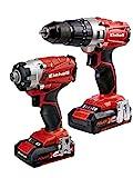 Einhell 4257214poder X-Change 2.0Ah 18V Combi Taladro Y Atornillador De Impacto–Pack de...