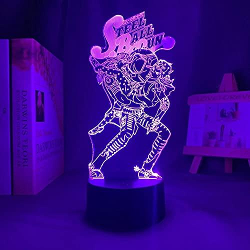 3D Led Night Light Talbe Illusion Lamp Anime JoJo Bizarre Adventure HOL Horse for Bedroom Decor Birthday Present Manga-with Remote