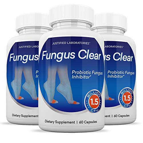 (3 Pack) Fungus Clear Pills 1.5 Billion CFU Probiotic Supports Strong Healthy Natural Clear Nails Plus Eliminates Fungus 180 Capsules