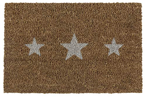 andiamo Schmutzfangmatte Kokos Sterne Fußmatte für innen und außen, 40 x 60 cm