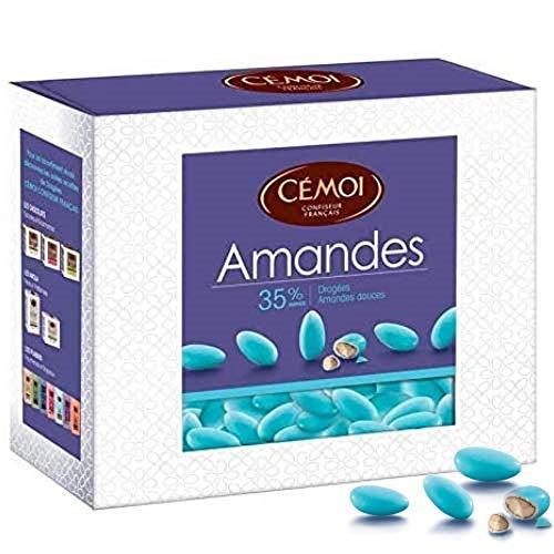 Cémoi Boite Dragées Turquoises Amande 35% 375 g