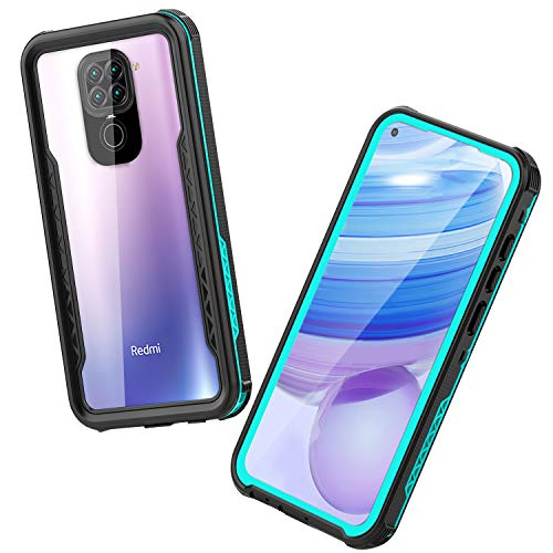 Mishcdea Xiaomi Redmi Note 9 4G Case, Waterproof, Shockproof, Dirtproof, Built-in Screen Protector, Fully Sealed Protective Case Only for Xiaomi Redmi Note 9 4G, Blue