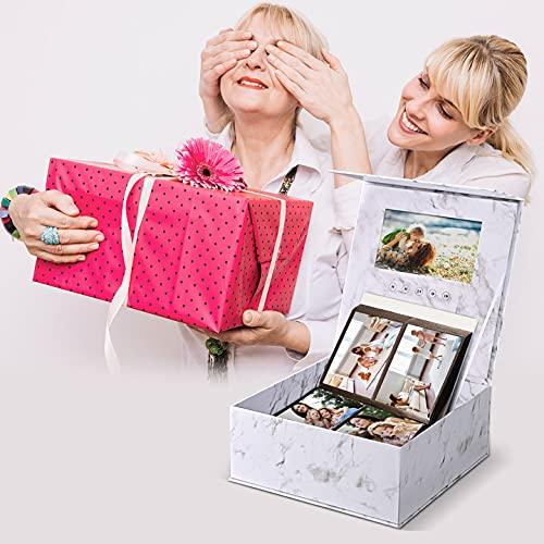 TTLIFE Muttertagsgeschenk Geschenkbox für Freundinnen 7-Zoll-LCD, Unterstützung mehrerer Foto- und Videoformate, USB Selbstgemachtes Video- und Foto-Geschenkbox für Paare / Freunde / Familie