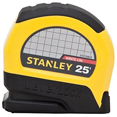 Stanley STHT30825 Lever Lock Tape Rule, 25' x 1