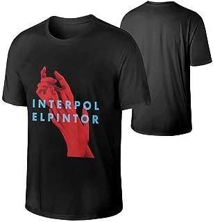 Mens Interpol El Pintor Music Band Lightweight Hip Pop Round Neck Cotton T Shirts Gift