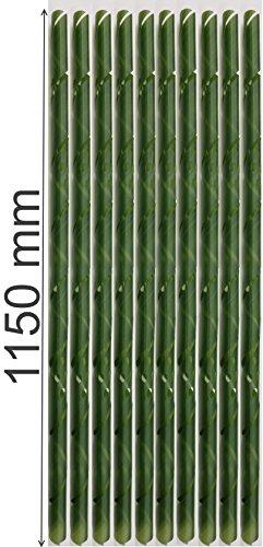 EXCOLO 10 x Baumschutz Spiralen 115 cm lang Baumschutzspirale Baum Rinden Schutz vor Fraßschäden Stammschutz grün gelocht.