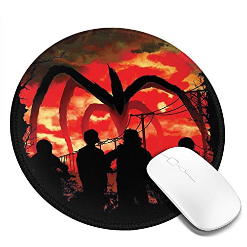 Stranger Things Mouse Pad with Non-Slip Base and Stitched Edges Computer Round Mousepad Laptop Cloth Mousemat for Gaming Office