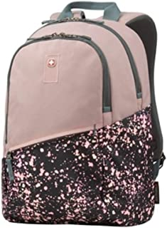 SwissGear Wenger Criso Backpack with 16 Laptop Pocket, Blush Pink Paint Splatter