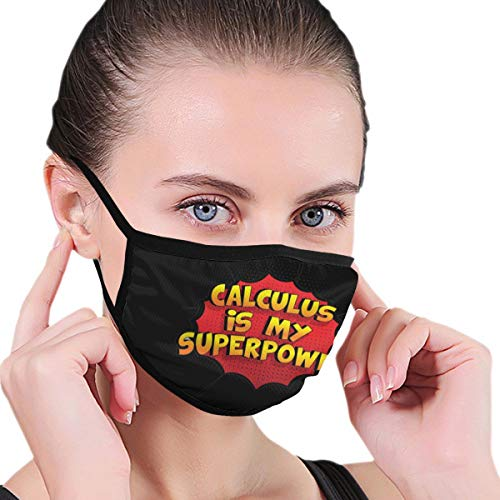 Ljw Unisex Anti-Dust Face Mouth Mask Calculus is My Superpower Funny Reusable Dust Mask for Cycling Camping Travel
