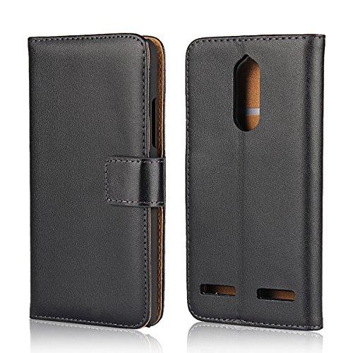 Copmob Lenovo K6 Hülle Handyhülle Lenovo K6 [Premium Leder] [Standfunktion] [Kartenfach] [Magnetverschluss] Schlanke Leder Brieftasche für Lenovo K6 Schwarz