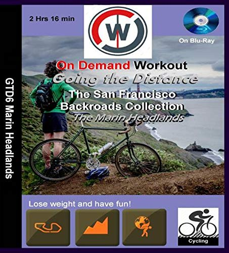 Going the Distance, The San Francisco Backroads Collection, The Marin Headlands - Virtual Indoor Cycling Training / Spinning Fitness and Weight Loss Videos [Blu-ray]
