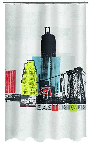 Spirella Textil Gotham Multicolor 180x200 cm Duschvorhang, Stoff, 180 x 200 cm