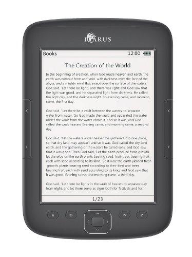Icarus Illumina HD lettore e-book Touch screen 4 GB Wi-Fi Nero