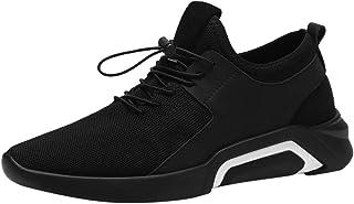 FRAUIT Uomo Scarpe da Corsa Sport Classica Stringata Sneaker Palestra Running Scarpe Uomo Eleganti Sportive Alte Scarpe Da...
