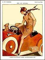 ERZAN風景 知育 puzzle1894ピーコックシリーズII女性緑ビンテージフランス語ヌーボージグソーパズル500ピース