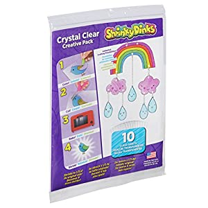 Shrinky Dinks Creative Pack 10 Sheets Crystal Clear Kids Art and Craft Activity