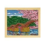 オリムパス製絲 クロスステッチ 刺しゅうキット 名所シリーズ 桜と錦帯橋 オフホワイト 7459