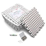 PUMEO 12' x 12' Blocking Mats - Pack of 9 Extra Thick Grid Boards for Knitting, Crocheting, Needlepoint - Complete with Reusable Storage Bag, 100 T-Pins and a Measuring Tape
