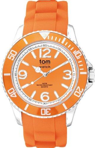 tom watch Damen Analog Quarz Uhr mit Gummi Armband WA000004
