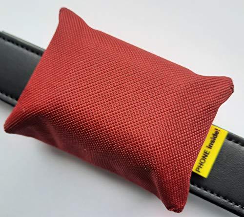 josi.li Trackertasche für GPS-Sender XL 80x49x29mm, wasserfestes Outdoorgewebe, in vielen Farben, Innenfächer, 2 Verschlüsse (Bordeauxrot)