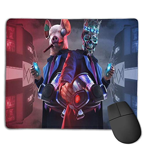 Watch Dogs Legion Mouse Pad with Stitched Edge, Computer Mouse Pad with Non-Slip Rubber Base, Mouse Pads for Computers Laptop Mouse Gaming Mousepad Mat White One Size