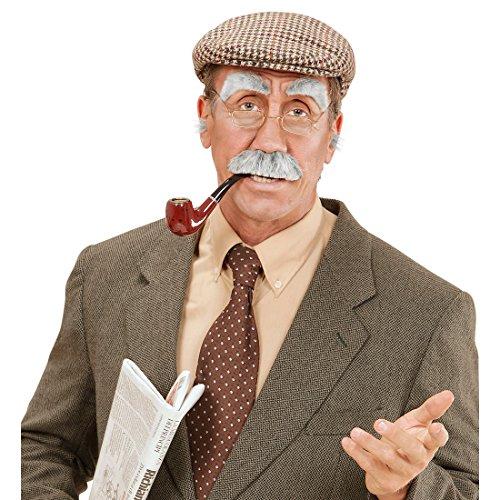 Amakando Pelo artificial para la nariz y las orejas, color gris, para disfraz de abuelo