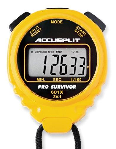 ACCUSPLIT Pro Survivor A601X Stoppuhr, Uhr, extra großes Display, Gelb
