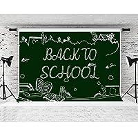 F-FUN SOUL バックドロップ 新学期 黒板チョーク 写真背景 テーマ パーティー フォトスタジオ小道具 バナー 装飾 7x5フィート LYFS661