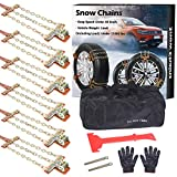 BESTWELL4U Tire Chains,Snow Chains for Truck,SUV of Tire Width 8.5-12.4 inch,Upgraded,Thickend,Adjustable (6 Pack)