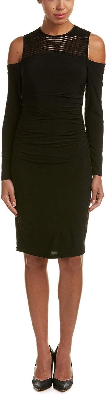 Cynthia Steffe Womens Sheath Cold Shoulder Cocktail Dress
