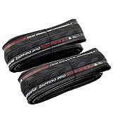 Vittoria Zaffiro Pro G2.0 Graphene Folding Clincher Tire 700x25C, Black, 2 Tire, VT2092
