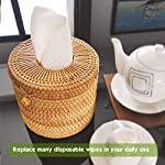 Miw Piw Reusable Unpaper Towels Set 20 & 1 Natural Loofah Sponges, Highly Absorbent Washable Paperless Recycled Organic Cotton Napkins Bamboo Bathroom Roll Cleaning Cloths Eco Friendly Zero Waste No More Disposable Wipes