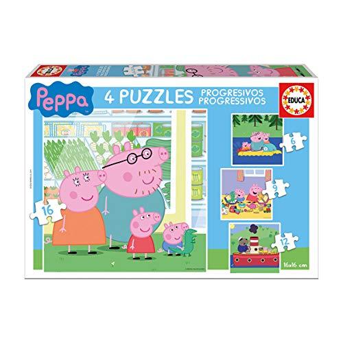 Educa Borrás- Peppa Pig Puzzles progresivos