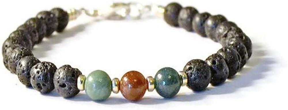 jasper bracelet aromatherapy bracelet essential oil diffuser bracelet lotus flower bracelet Women/'s lava stone diffuser bracelet