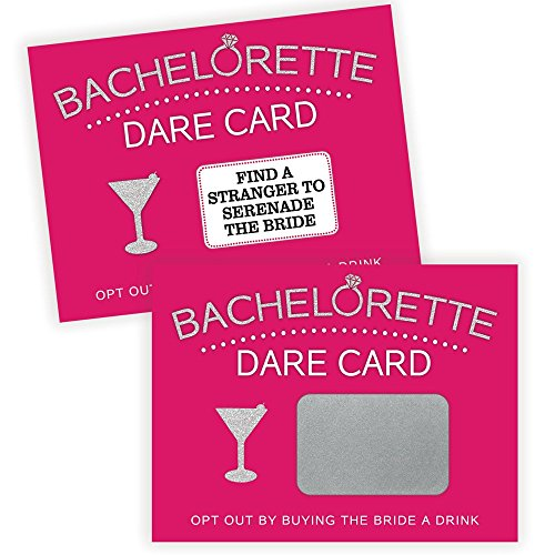 Bachelorette Dare Card Party Game, 20 Scratch Off Cards, Bachelorette Party Ideas, Girls Night Out Activity, Bridal Party Game