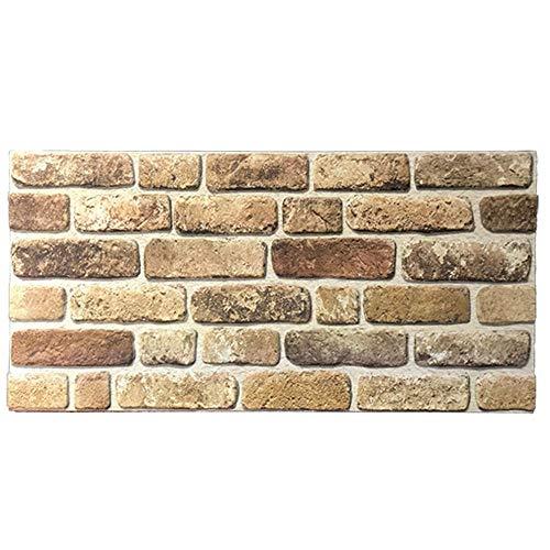 IZODEKOR Wandverkleidung Steinoptik Styropor 3D Wandpaneele - Verblender Steinoptik für Küche, Badezimmer, Balkon, Schlafzimmer, Wohnzimmer, Küchenrückwand und Teras | Bauerhausstil