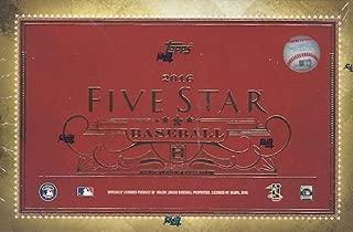 2016 topps five star baseball