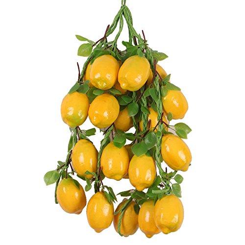 5Pcs Hängen Künstliche Obst / Gemüse Kunststoffe Haus Wohnzimmer Deko - Zitrone , One Size