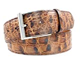 BRYANT PARK BP4913-02 36 Genuine Caiman Crocodile Mens Belt 1.5' Wide - Made in USA - Sold in Branded Gift Box
