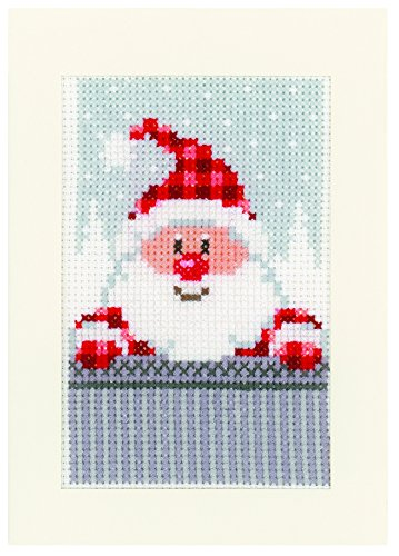 Vervaco PN-0149384 Ver - Juego de Postales navideñas (3 Unidades)